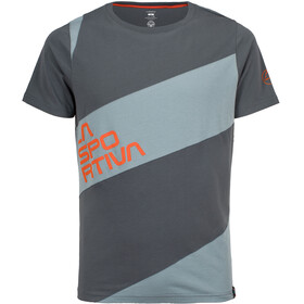 La Sportiva Slab - Camiseta manga corta Hombre - gris/azul